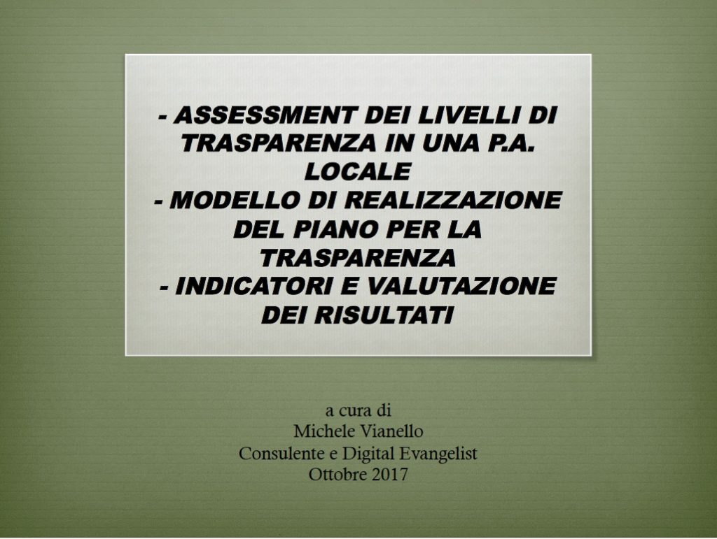 michele vianello assessment foia